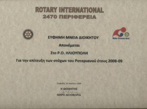 Βραβείο για την επίτευξη των στόχων του έτους