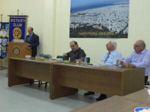 Συνεστίαση με τον ομιλιτή κ Πανάγο